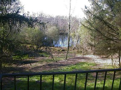 view of lake from lodge